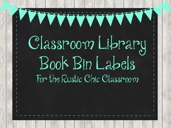 Rustic Chic Book Basket Labels