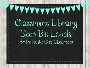Rustic Chic Book Bin Labels