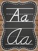 Rustic Chic & Chalkboard Alphabet Posters in D'Nealian