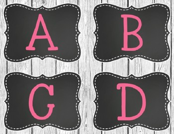 Rustic Chic Chalkboard with Bright Colors Guided Reading Level Labels *EDITABLE*