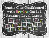 Rustic Chic Chalkboard with Bright Colors Guided Reading L