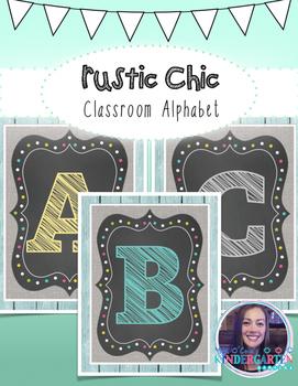 Rustic Chic Classroom Alphabet {Capital Letters}