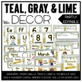 Rustic Chic Editable Classroom Decor {Teal, Gray, and Lime}