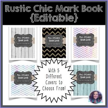 Rustic Chic Grade Book {Editable}