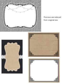 Rustic Chic Theme Labels, Signs, and Posters **editable**