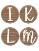 Rustic Chic Word Wall Headers