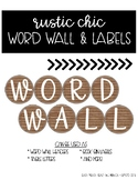 Rustic Chic Word Wall Headers