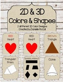 Rustic Classroom Decor 2D & 3D Colors & Shapes