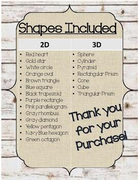 Rustic Classroom Decor 2D & 3D Colors & Shapes