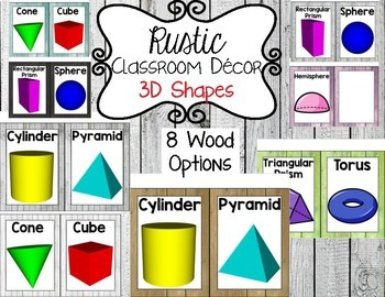 Rustic Classroom Decor: 3D Shapes