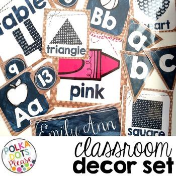 Rustic Classroom Decor BUNDLE