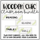 Rustic Classroom Decor Bundle *wood theme*