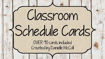 Rustic Classroom Decor - Daily Schedule Cards