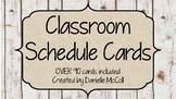 Rustic Classroom Decor - Editable Daily Schedule Cards