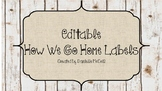 Rustic Classroom Decor - *EDITABLE* How We Go Home Clip Chart