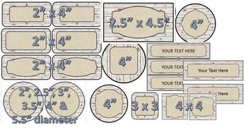 Rustic Classroom Decor *Editable* Labels