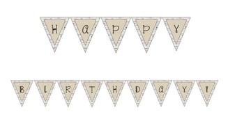 Rustic Classroom Decor - Editable Welcome & Birthday Pennant