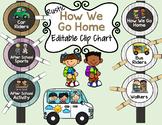 Rustic Classroom Decor: How We Go Home (Editable)