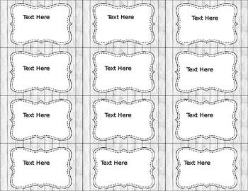 Rustic Classroom Decor: Labels (Freebie)