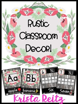 Rustic Classroom Decor {Wood & Flowers}