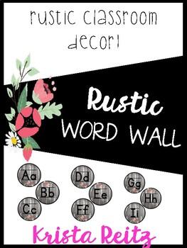 Rustic Classroom Decor {Word Wall}