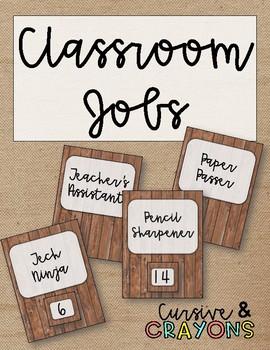 Rustic Classroom Jobs
