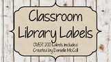 Rustic Classroom Decor - Editable Library Labels