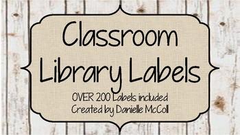 Rustic Classroom Decor - Editable Library Labels
