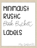 Rustic Classroom Library Labels