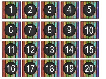 Rustic Classroom Number Set