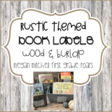 Rustic Classroom Decor Library Book Labels