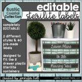 EDITABLE Sterilite Drawer Labels (Rustic Coastal)