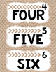 Rustic Color and Number Labels