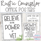 Rustic Farmhouse School Counselor Office Posters
