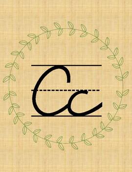 Rustic Cursive Alphabet Posters
