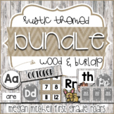 Rustic Classroom Decor BUNDLE with a Farmhouse Wood and Burlap Flair