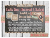 Rustic Decor {Barnwood & Burlap} Editable Classroom Decor Pack