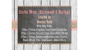Rustic Decor {Barnwood & Burlap} Editable Deskplates/Labels