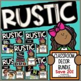 Rustic Decor Bundle:  Alphabet, Numbers, Shapes, Colors, Calendar