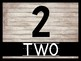 Rustic Decor Number Cards