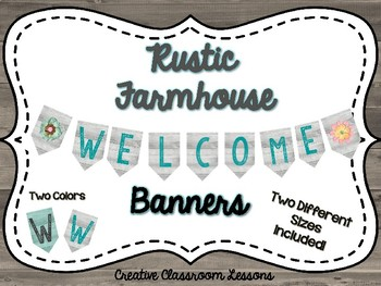 Rustic Decor-Welcome Banners