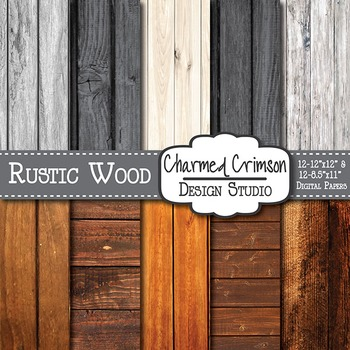 Rustic Distressed Wood Digital Paper 1390