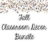 Fall Classroom Decor Bundle