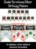Rustic Farmhouse Birthday Posters