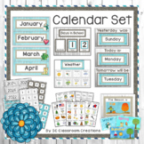 Rustic Farmhouse Calendar Set Classroom Decor