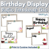Birthday Display - Rustic Farmhouse Chic