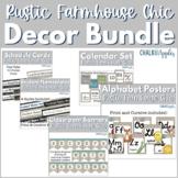 Rustic Farmhouse Chic Classroom Decor Bundle