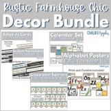 Rustic Farmhouse Chic Classroom Decor Bundle