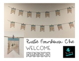 Rustic Farmhouse Chic Welcome Banner EDITABLE