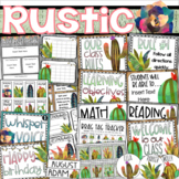 Rustic Farmhouse Class Management Decor Bundle (Rules, Brag Tags, Newsletter)